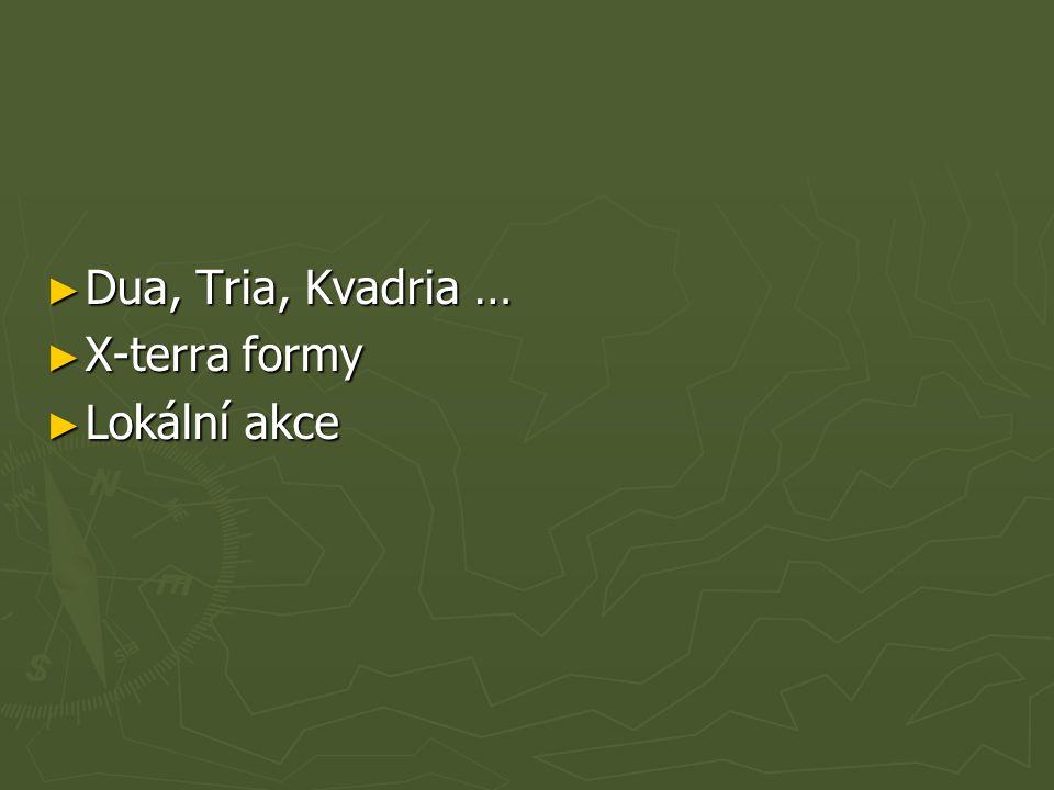 ► Dua, Tria, Kvadria … ► X-terra formy ► Lokální akce