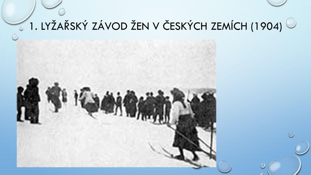 1. LYŽAŘSKÝ ZÁVOD ŽEN V ČESKÝCH ZEMÍCH (1904)