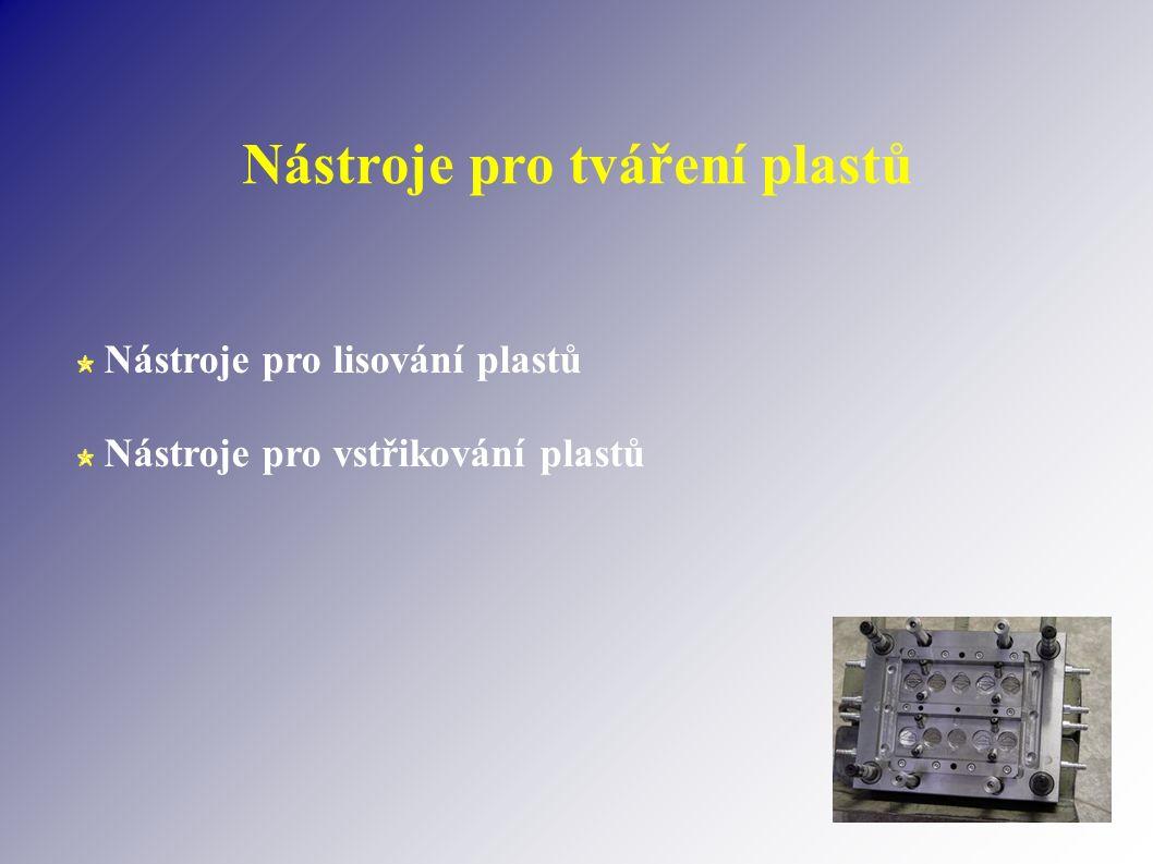 Nástroje pro tváření plastů Nástroje pro lisování plastů Nástroje pro vstřikování plastů