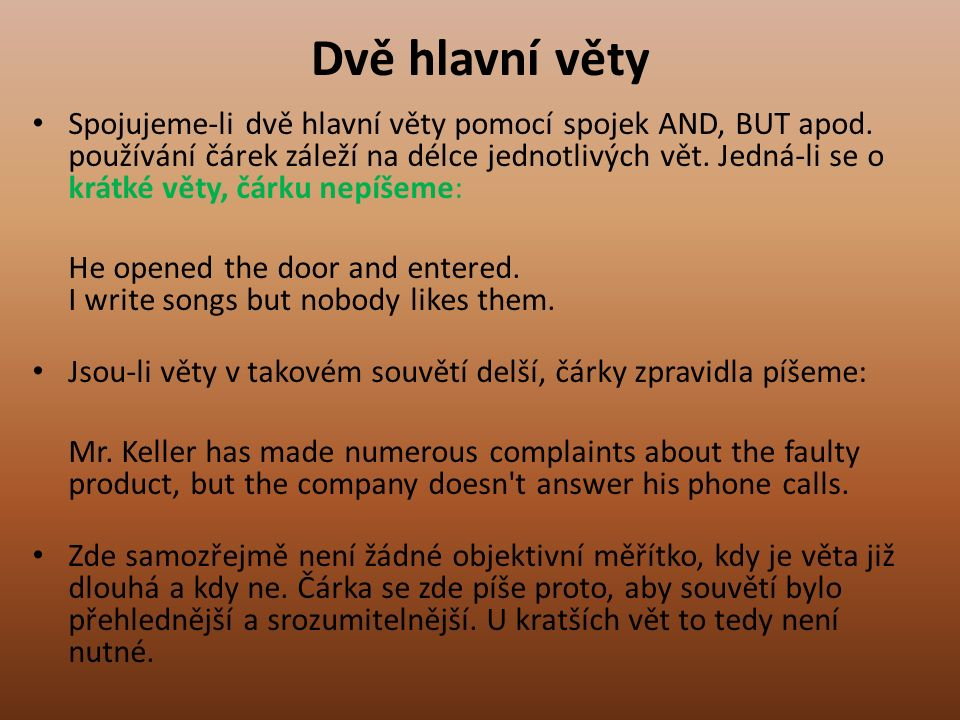 Příklad dopisu Example 1 The letter should be to your friend Sam.