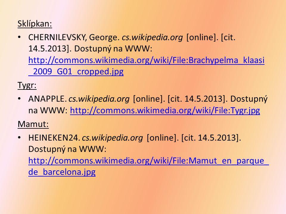 Sklípkan: CHERNILEVSKY, George. cs.wikipedia.org [online].