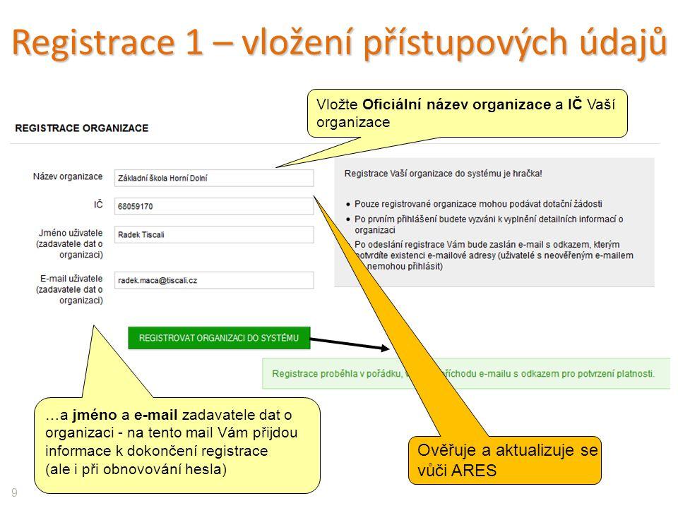 40 Správa projektů Není třeba žádost zasílat v písemné podobě!!.