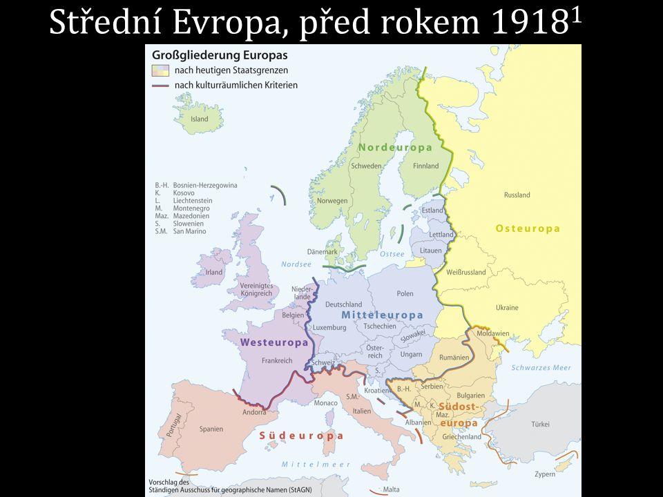 Střední Evropa, před rokem 1918 1