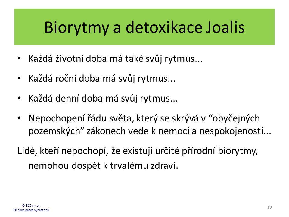 Biorytmy a detoxikace Joalis Každá životní doba má také svůj rytmus... Každá roční doba má svůj rytmus... Každá denní doba má svůj rytmus... Nepochope