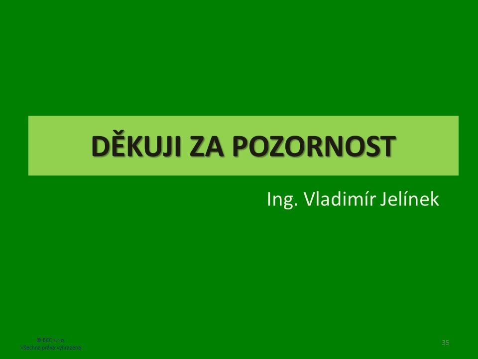 DĚKUJI ZA POZORNOST Ing. Vladimír Jelínek 35 © ECC s.r.o. Všechna práva vyhrazena