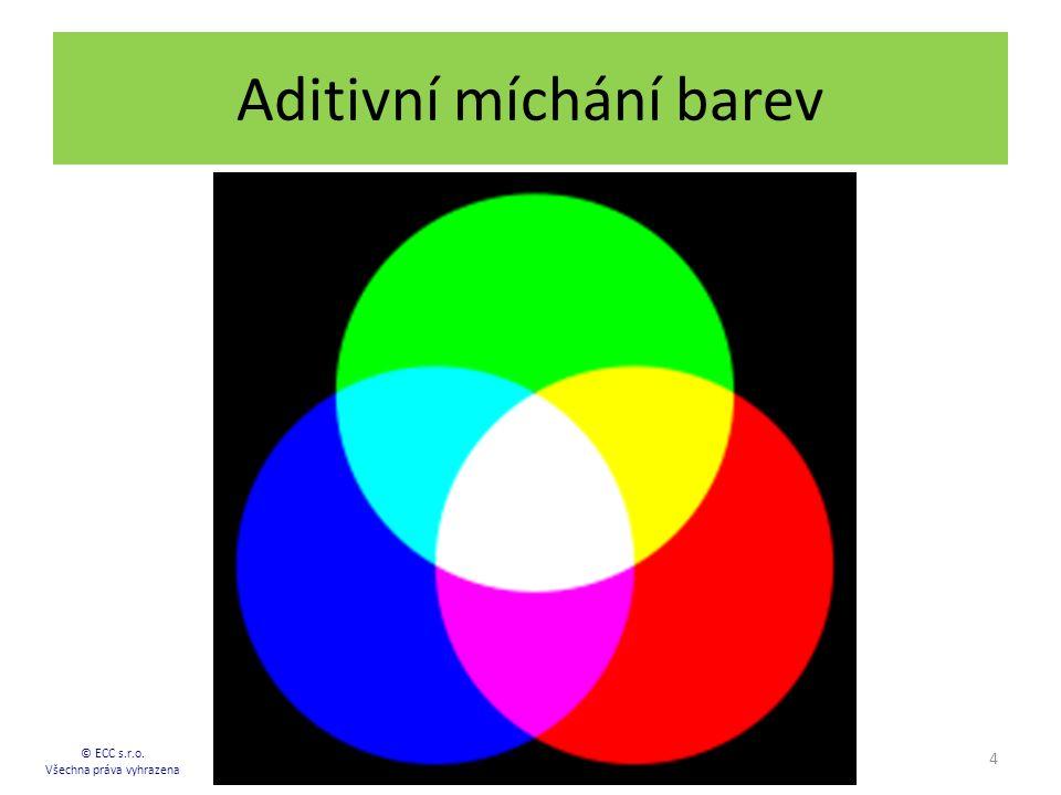 Aditivní míchání barev 4 © ECC s.r.o. Všechna práva vyhrazena