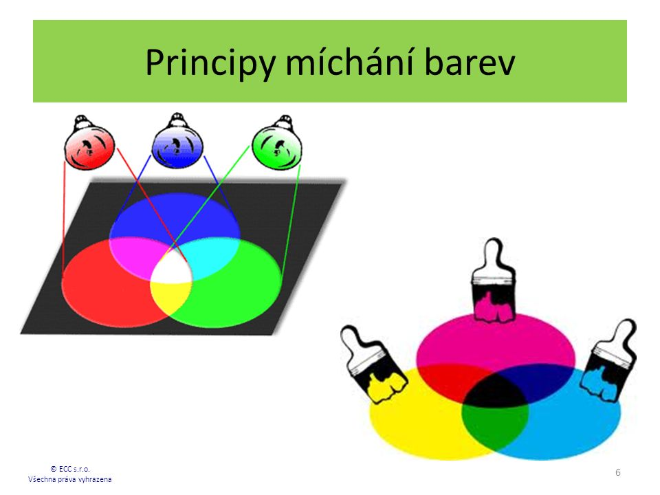 Principy míchání barev 6 © ECC s.r.o. Všechna práva vyhrazena