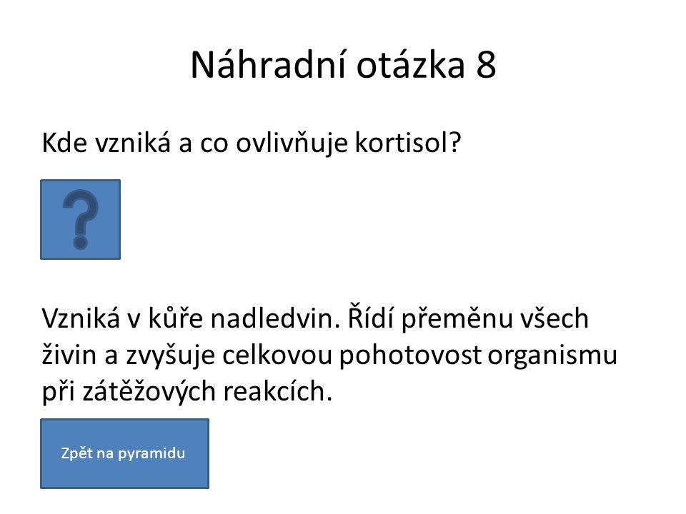 Náhradní otázka 8 Kde vzniká a co ovlivňuje kortisol.