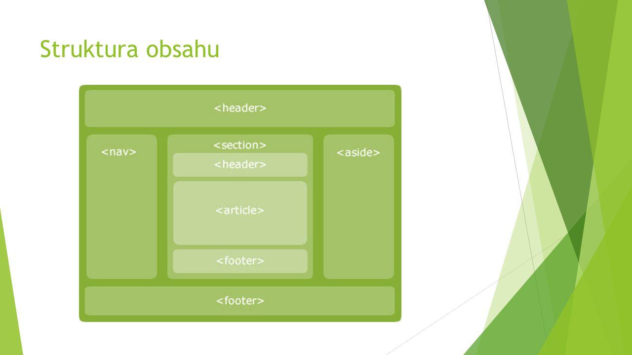 Struktura obsahu