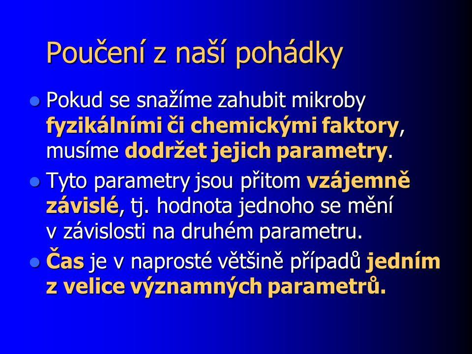 Desinfekce – příklady 4 8.Manganistan draselný se již neužívá.