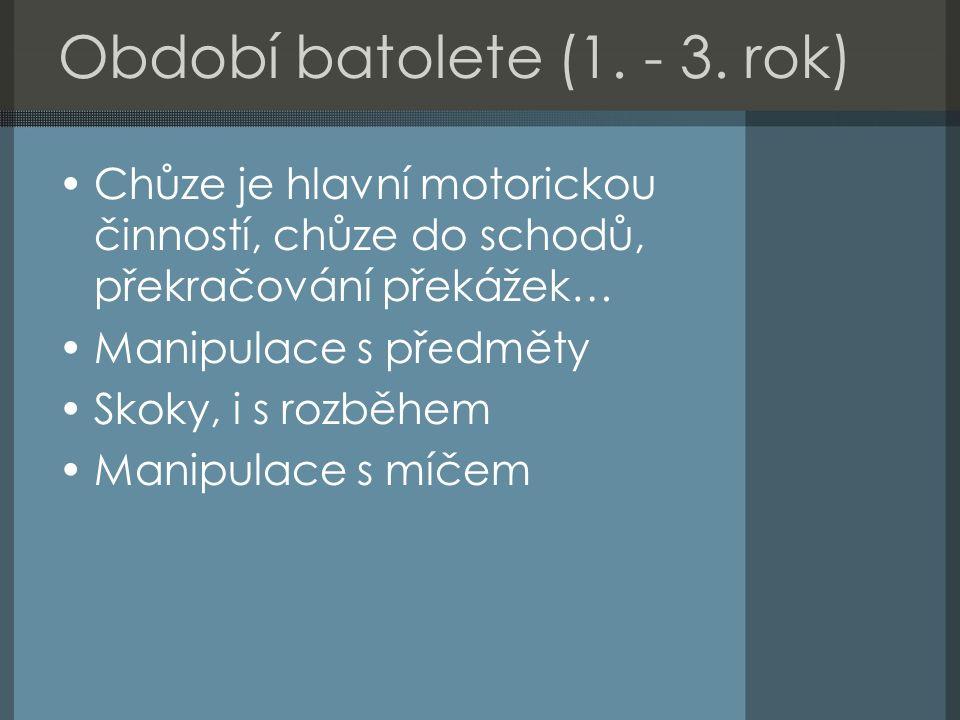 Období batolete (1. - 3.