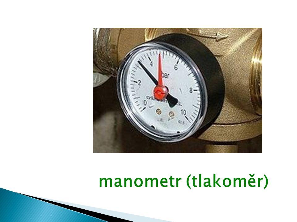 manometr (tlakoměr)
