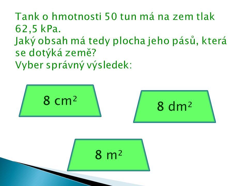 8 cm² 8 dm² 8 m²