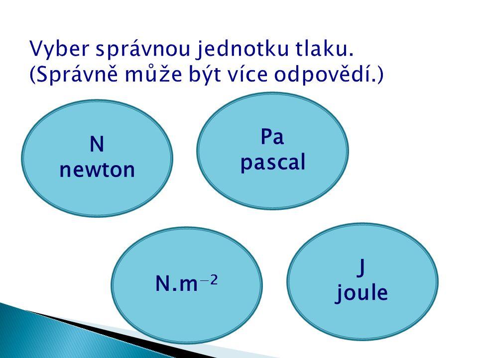 N newton J joule N.m −2 Pa pascal