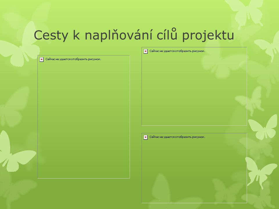 Cesty k naplňování cílů projektu