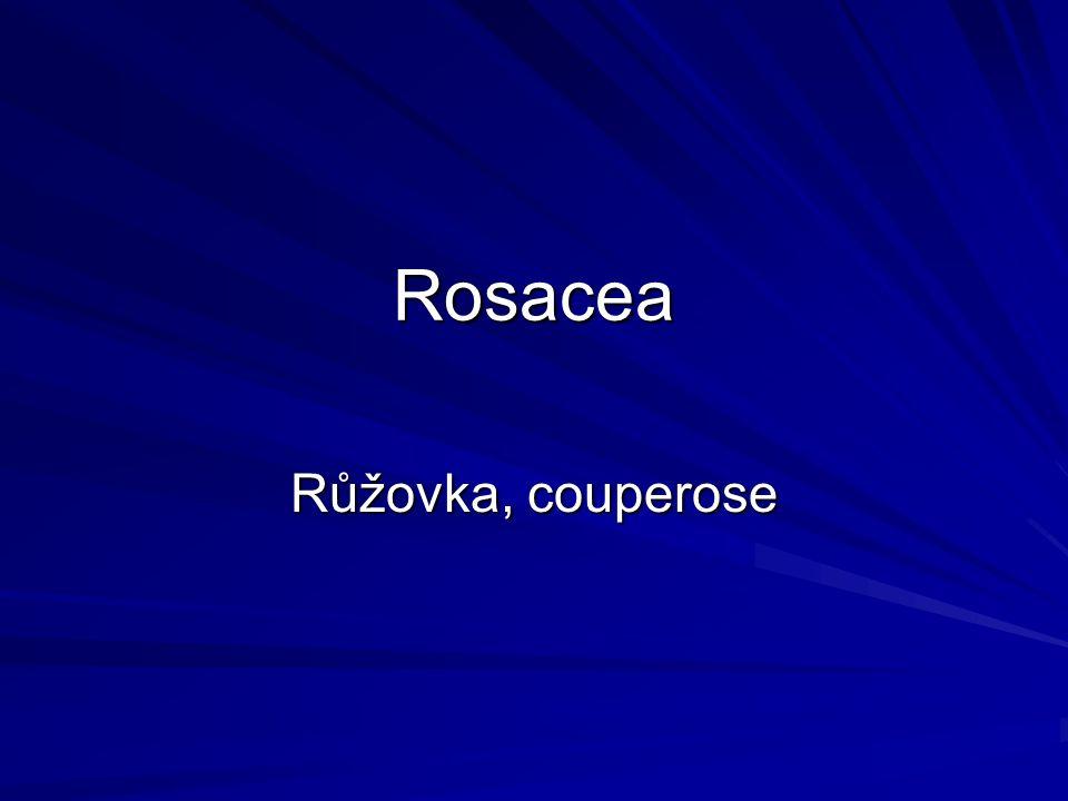 Rosacea Růžovka, couperose