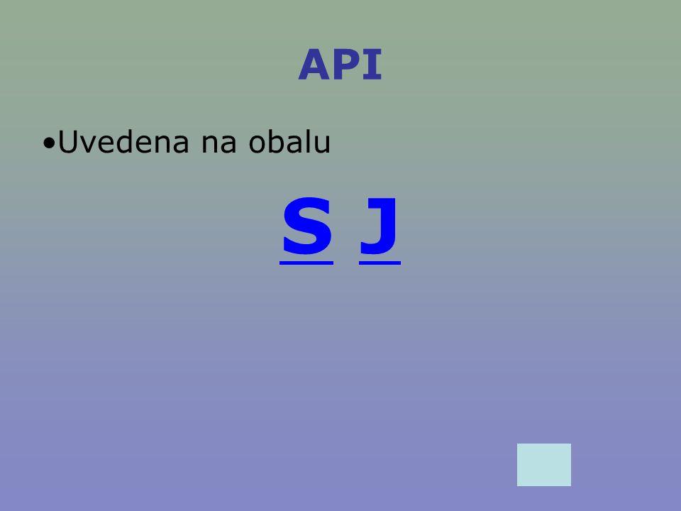 API Uvedena na obalu SS JJ