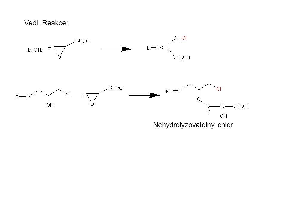 Vedl. Reakce: Nehydrolyzovatelný chlor