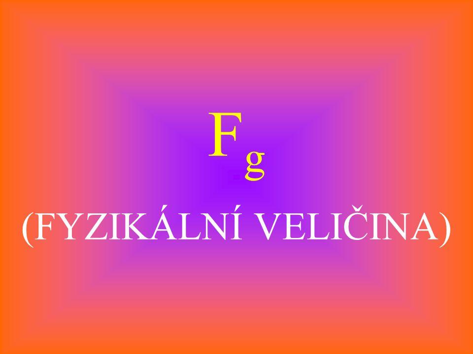 F g (FYZIKÁLNÍ VELIČINA)
