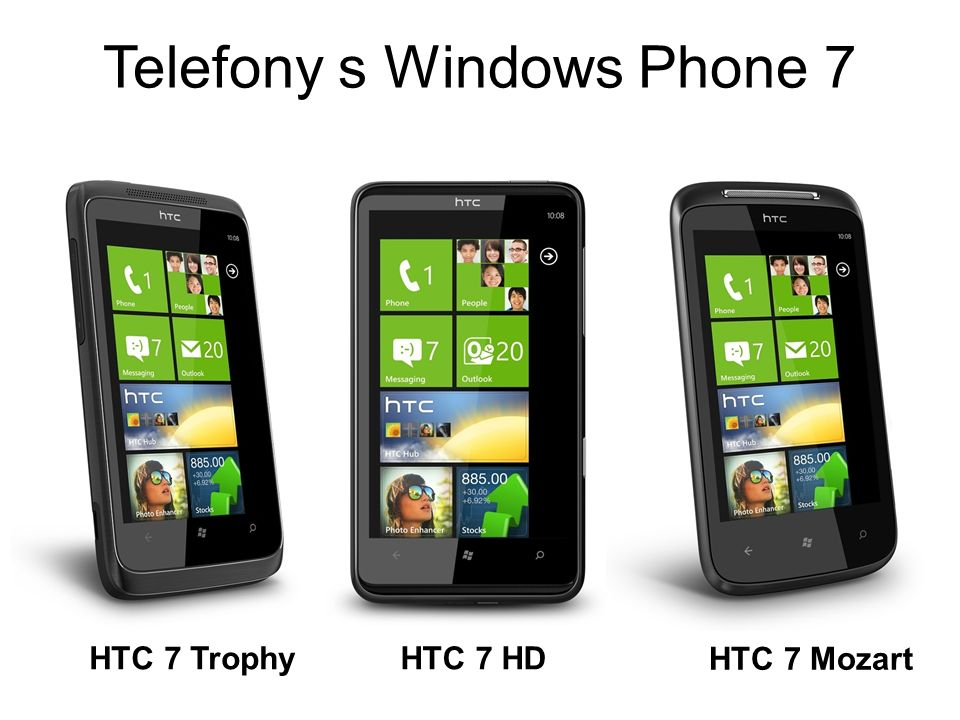 Telefony s Windows Phone 7 HTC 7 TrophyHTC 7 HD HTC 7 Mozart