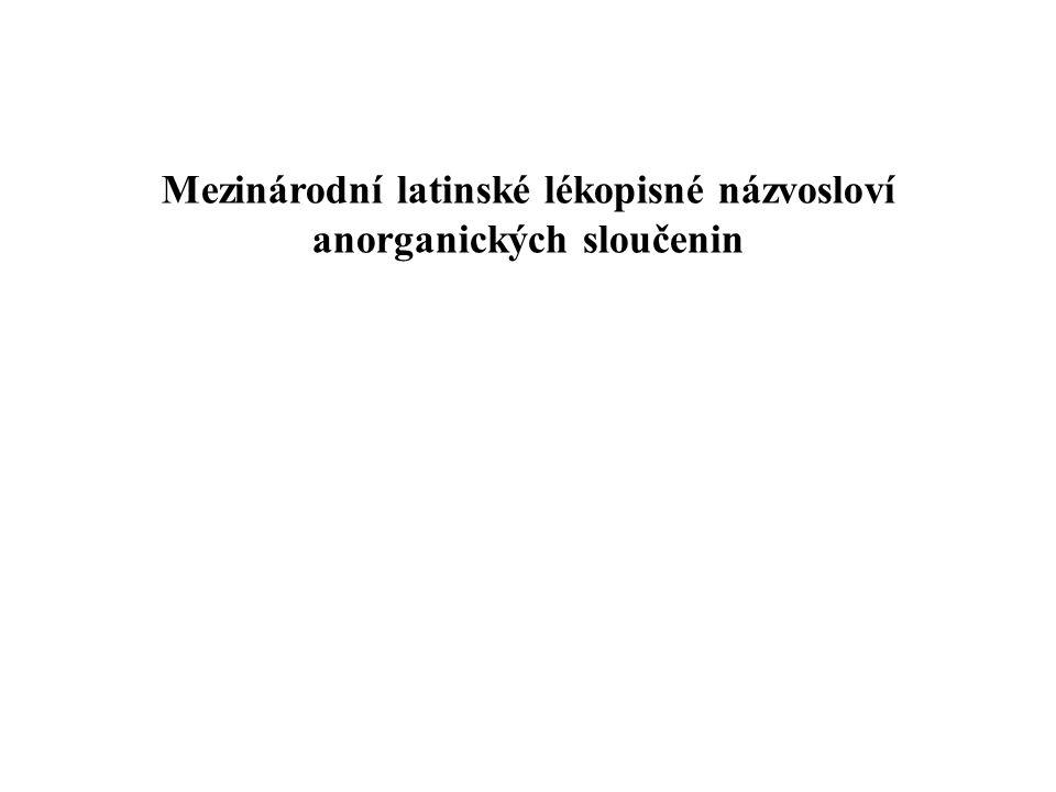 Mezinárodní latinské lékopisné názvosloví anorganických sloučenin