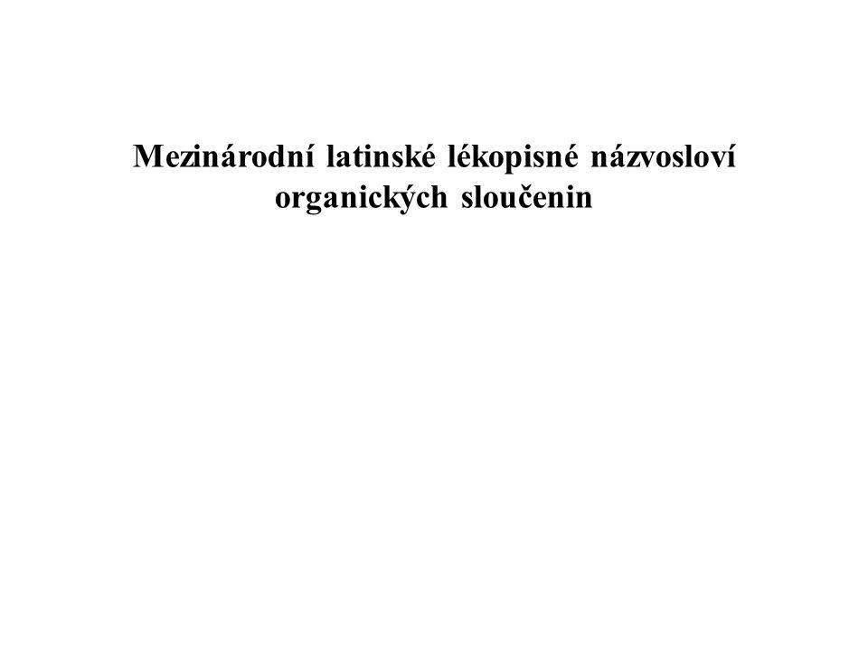 Mezinárodní latinské lékopisné názvosloví organických sloučenin