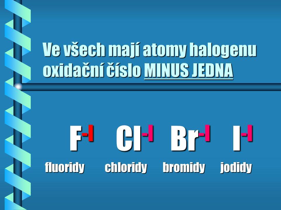 OXIDAČNÍ ČÍSLO Je náboj, který zdánlivě mají jednotlivé atomy v molekule sloučeniny
