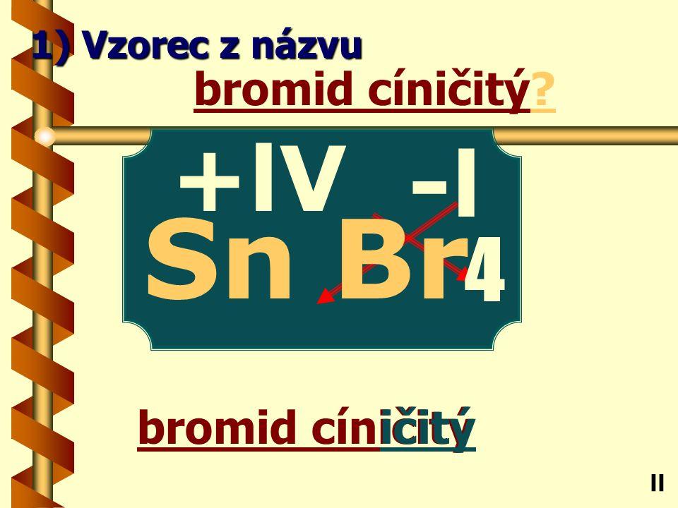 chlorid sodný ný chlorid sodný? Na ll 1) Vzorec z názvu -l Cl +l