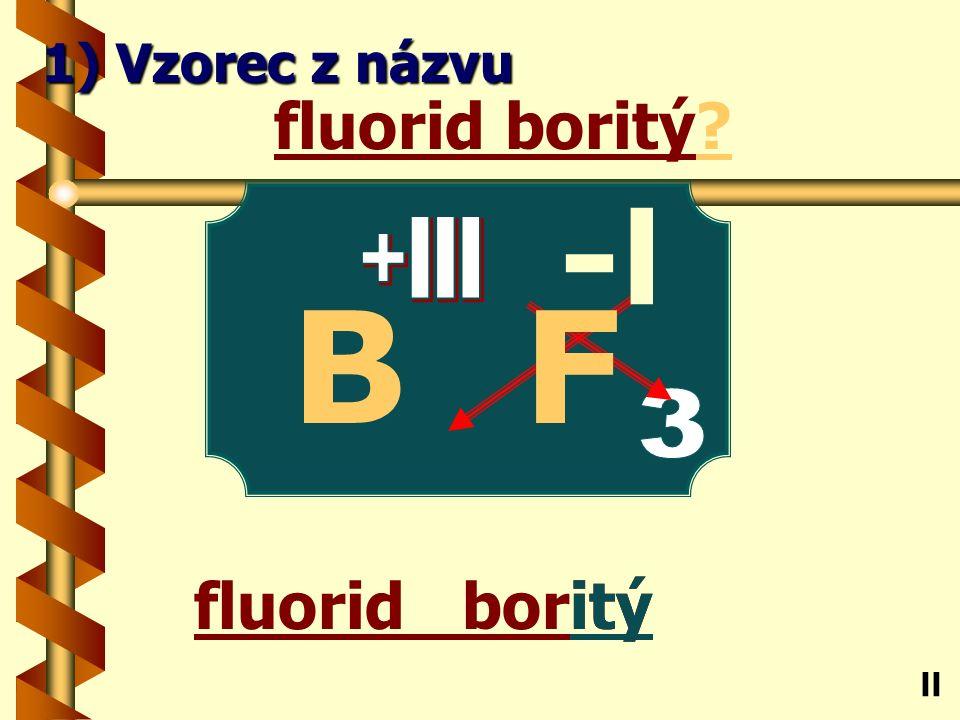bromid sodný ný bromid sodný? Na ll 1) Vzorec z názvu -l Br +l