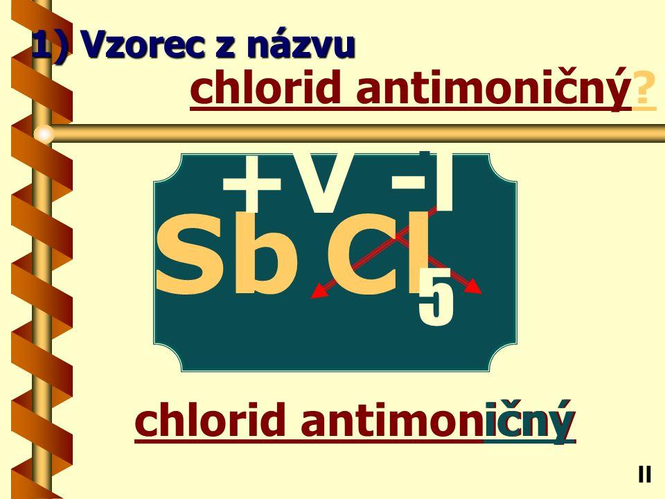 Fluorid osmičelý ičelý fluorid osmičelý Os ll 1) Vzorec z názvu -l F +Vlll 8
