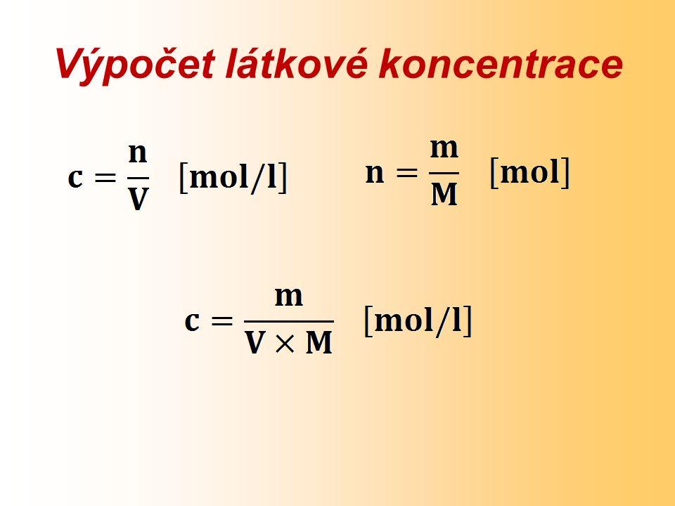 Výpočet látkové koncentrace