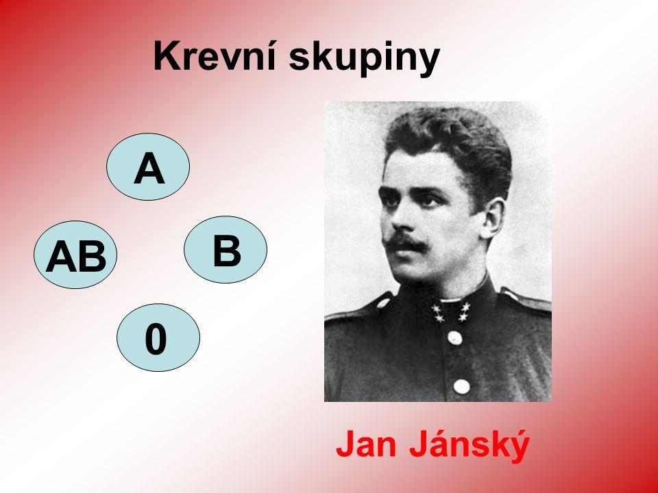 Krevní skupiny 3 AB AB 0 Jan Jánský