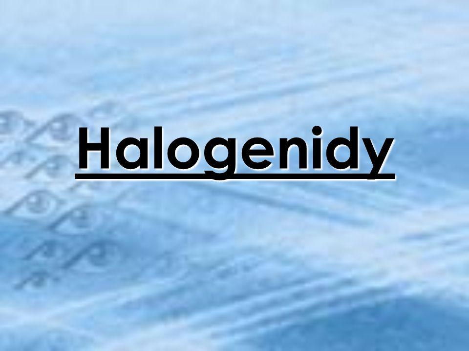Anotace Výkladová prezentace Názvosloví halogenidů Příklady významných halogenidů – vlastnosti, užití