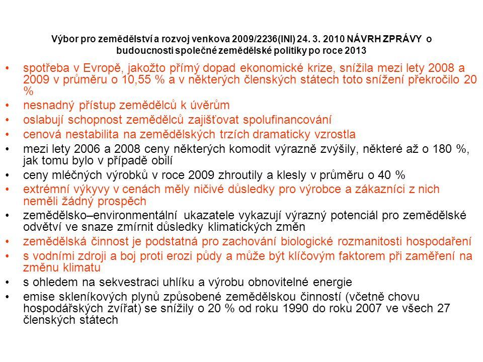 Výbor pro zemědělství a rozvoj venkova 2009/2236(INI) 24.