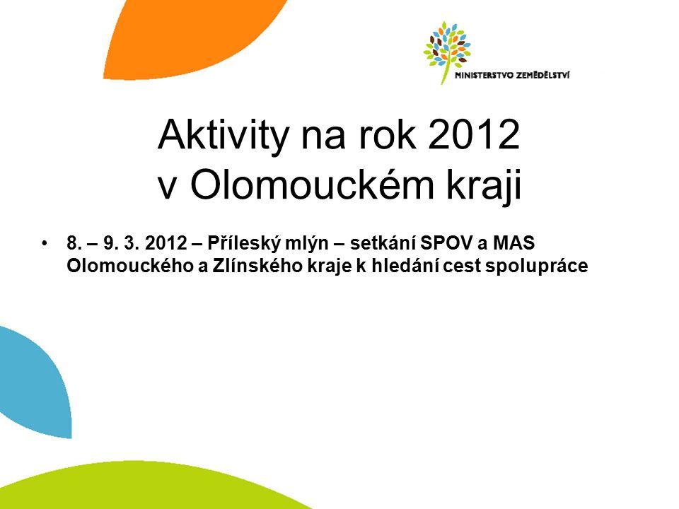 Aktivity na rok 2012 v Olomouckém kraji 8. – 9. 3.
