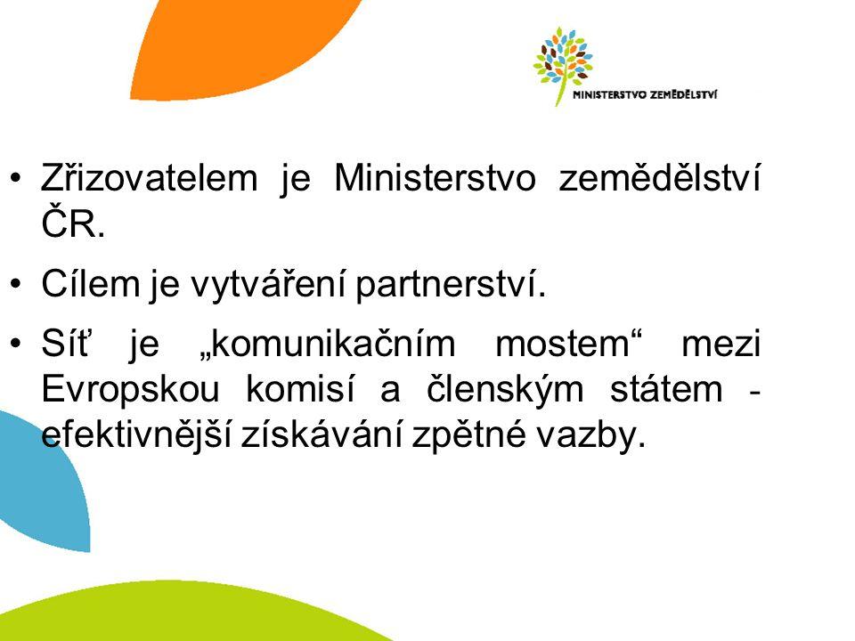 Zřizovatelem je Ministerstvo zemědělství ČR. Cílem je vytváření partnerství.