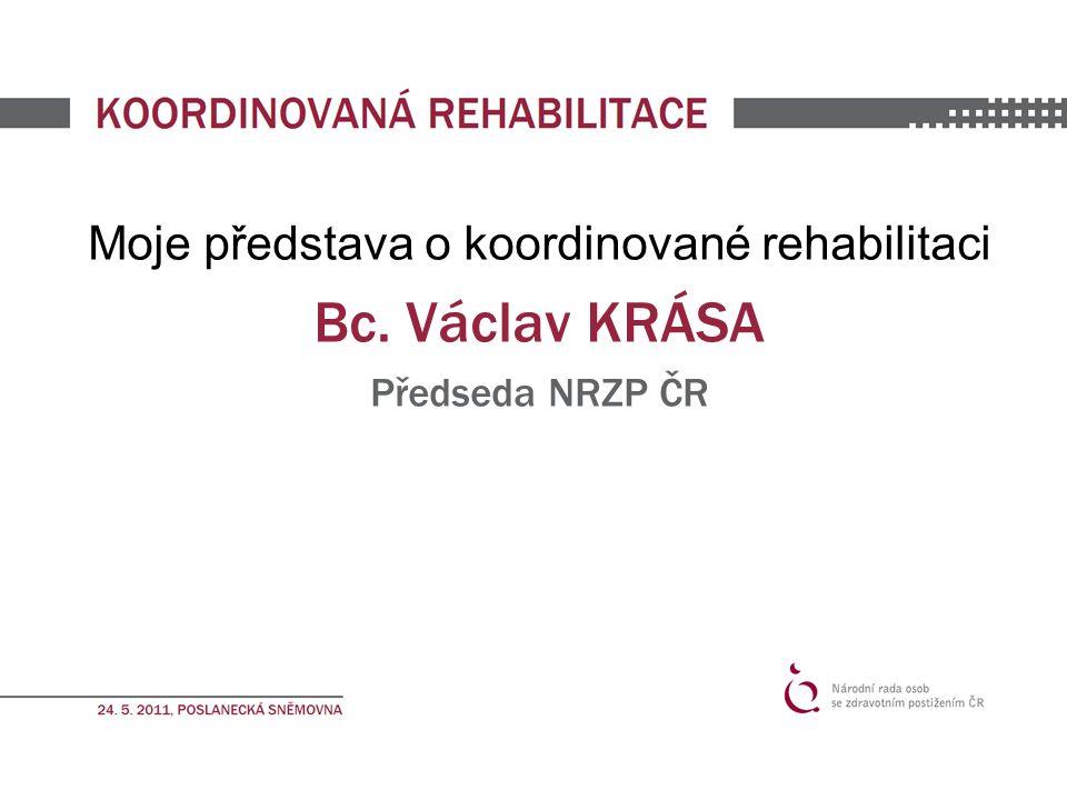 Moje představa o koordinované rehabilitaci Bc. Václav KRÁSA Předseda NRZP ČR