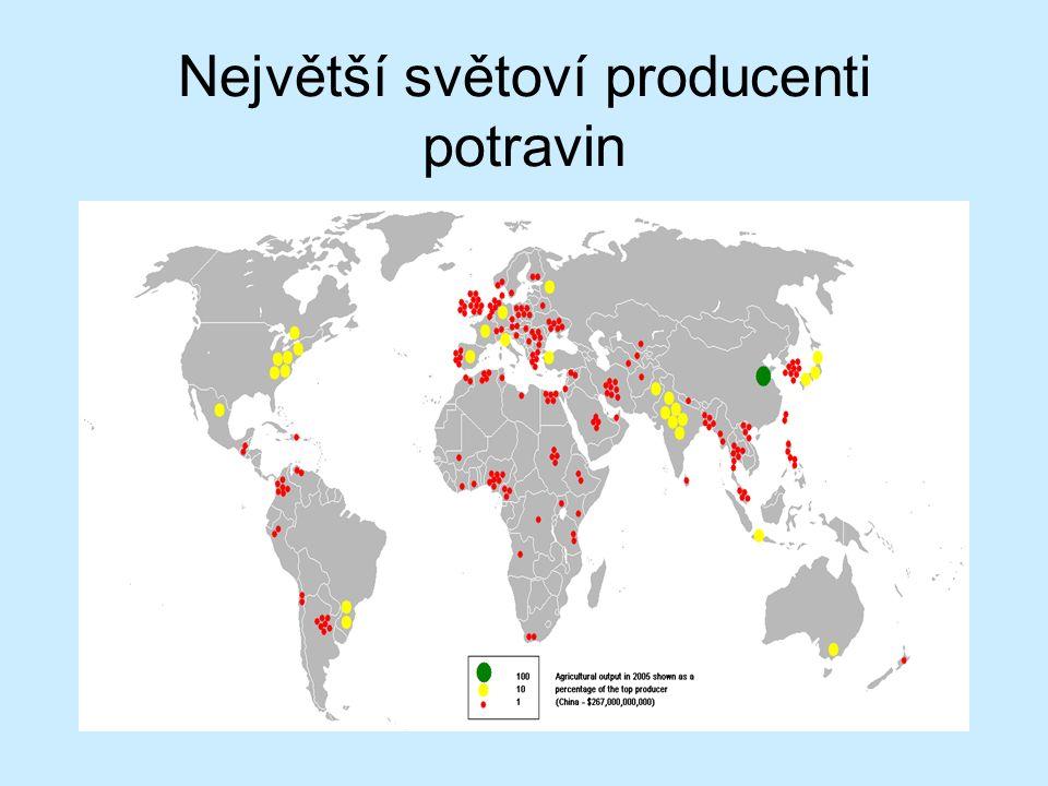 Největší světoví producenti potravin