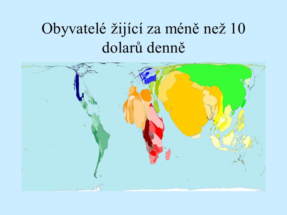 Obyvatelé žijící za méně než 10 dolarů denně