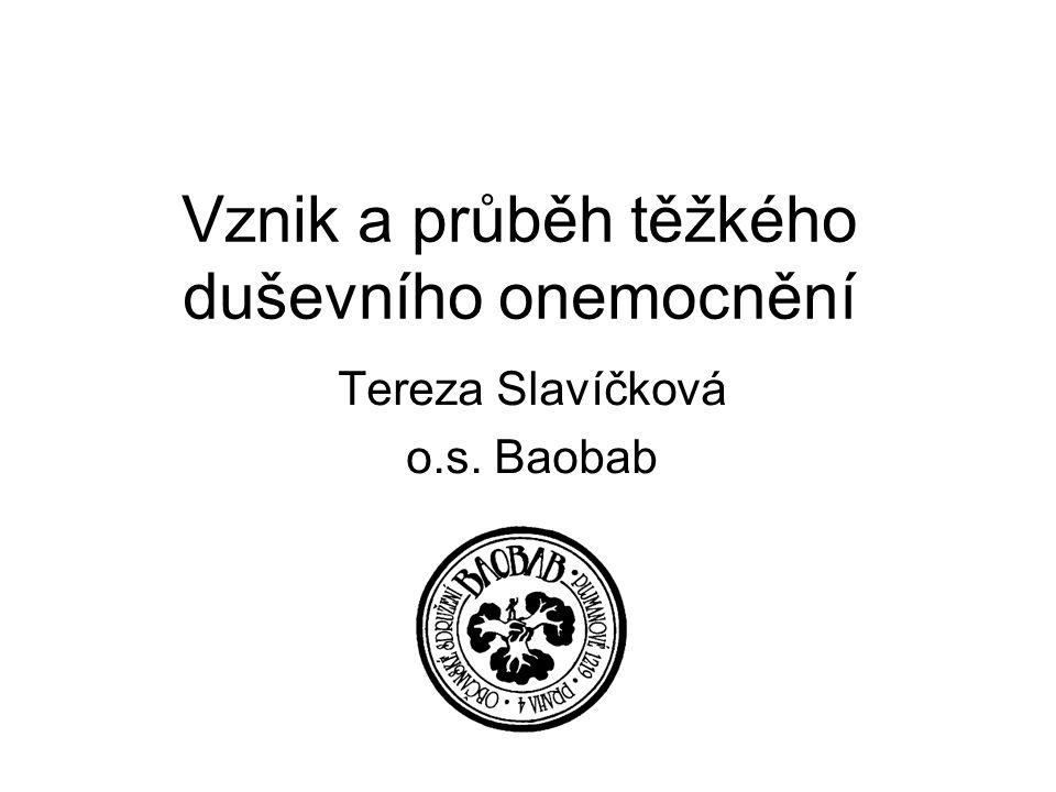 Vznik a průběh těžkého duševního onemocnění Tereza Slavíčková o.s. Baobab