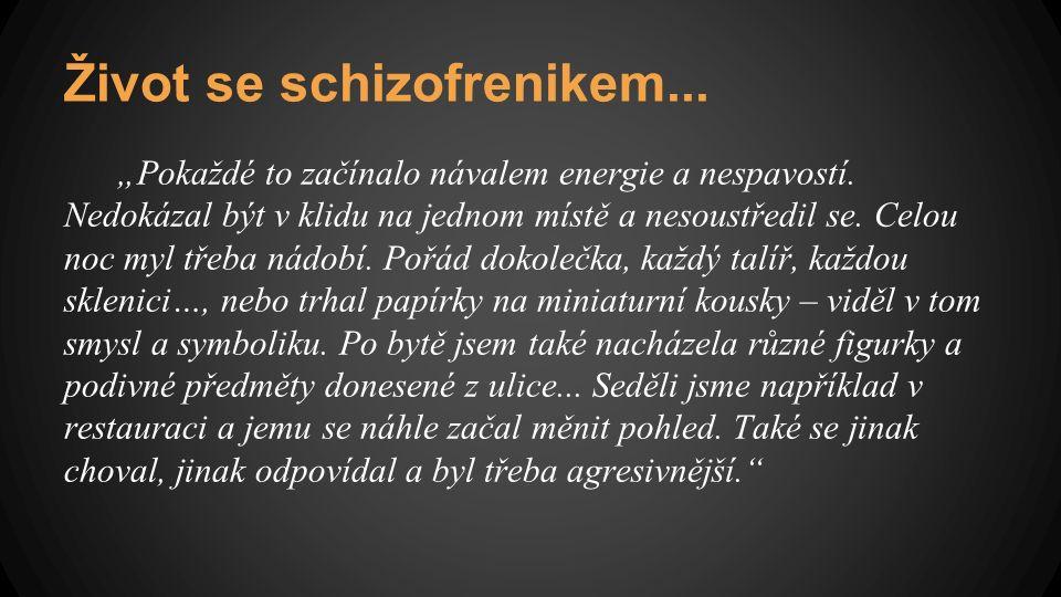 """Život se schizofrenikem... """"Pokaždé to začínalo návalem energie a nespavostí."""