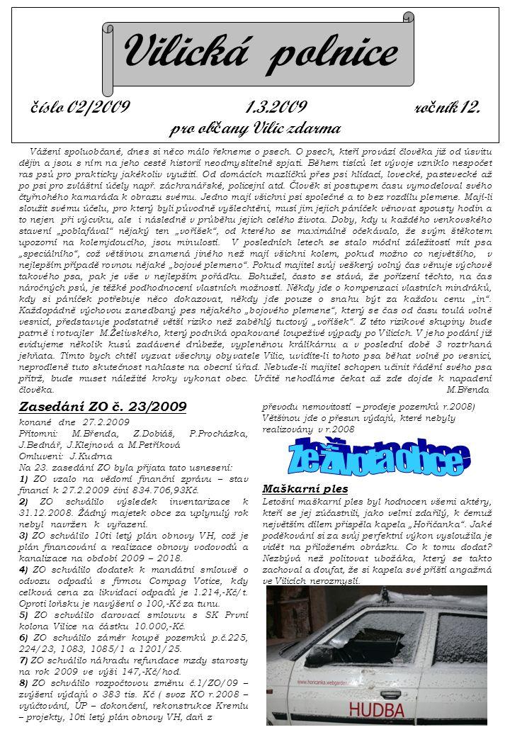 Vilická polnice č íslo 02/2009 1.3.2009 ro č ník 12.