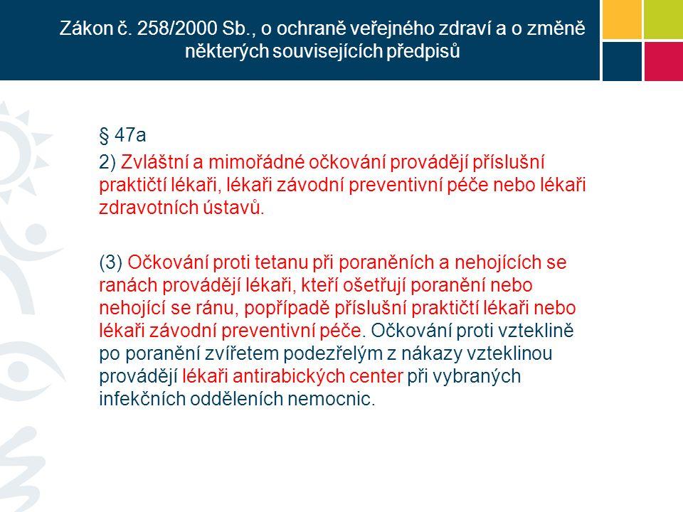 Mimořádné očkování podle § 80 odst 1 písm.i) zákona č.