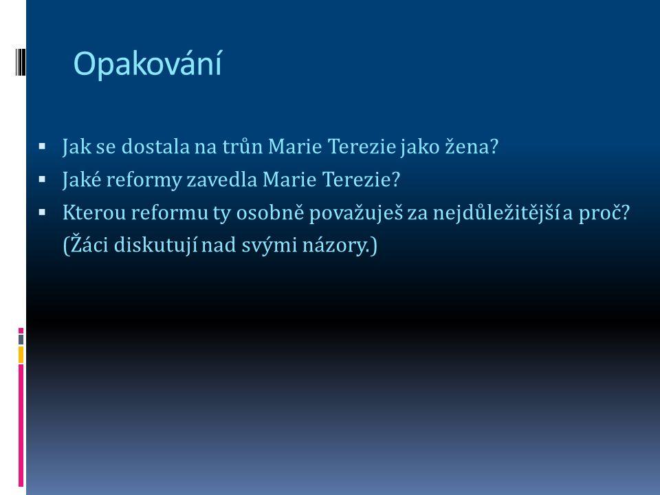 Školská reforma  1774 školský řád– vliv osvícenství + Komenský = povinná šestiletá docházka.