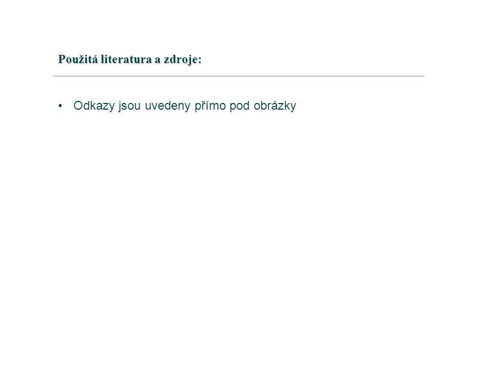 Použitá literatura a zdroje: Odkazy jsou uvedeny přímo pod obrázky