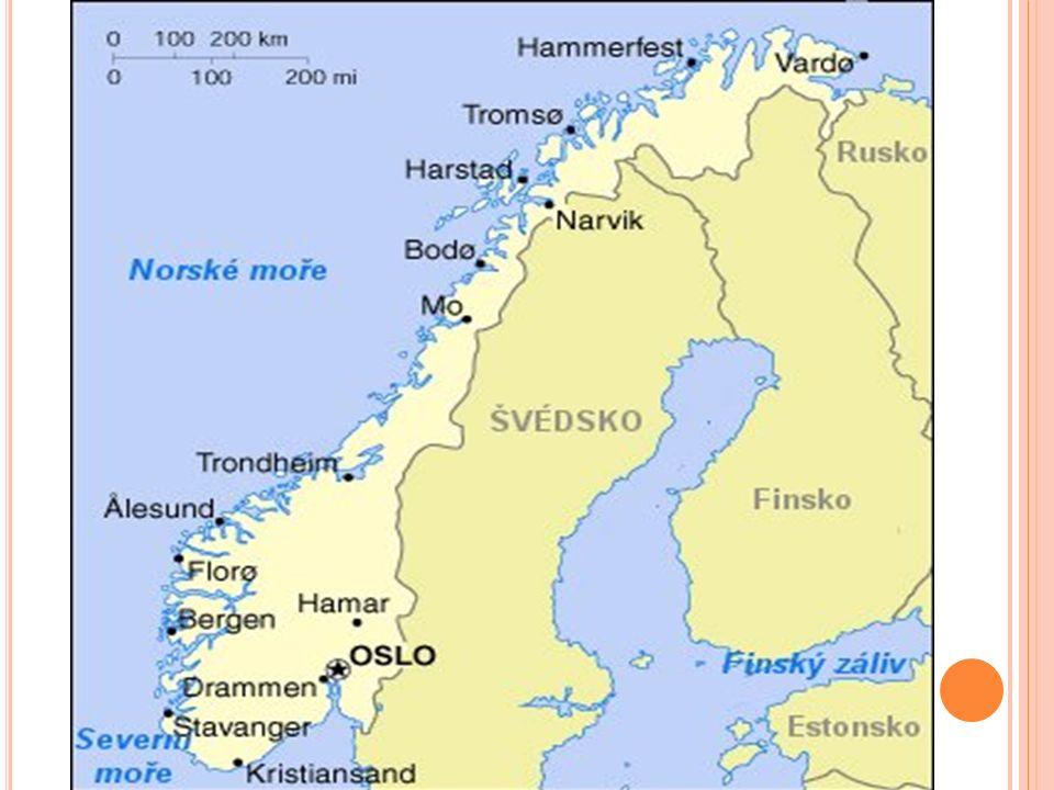 D ALŠÍ TURISTICKÁ MÍSTA Oslo-hlavní město Západní norské fjordy-fjordy v UNESCU Špicberky-souostroví Nordkapp-vysoký skalní útvar Muzeum Vikingských lodí Park Vigeland-sochařský park a mnoho dalších Fotografie Norska