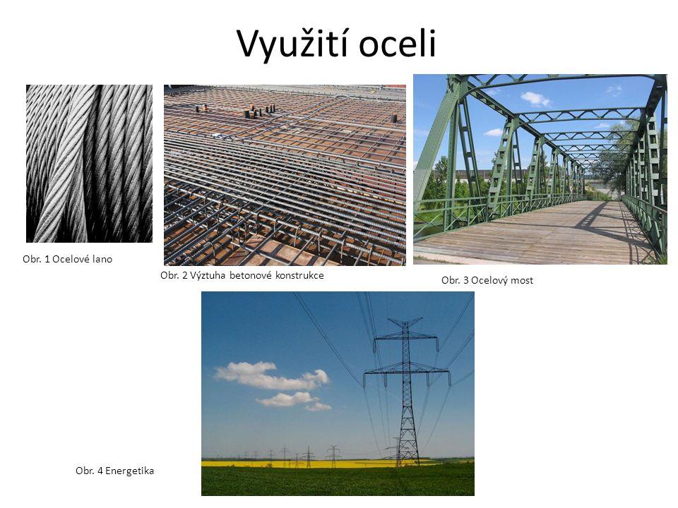 Využití oceli Obr.1 Ocelové lano Obr. 2 Výztuha betonové konstrukce Obr.