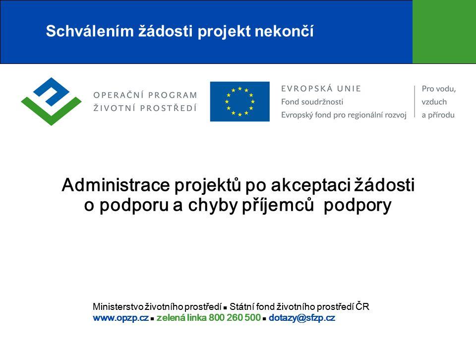 Závěrečné vyhodnocení akce  Předložení podkladů pro závěrečnou zprávu - závazný termín – uvedený v podmínkách RoPD.