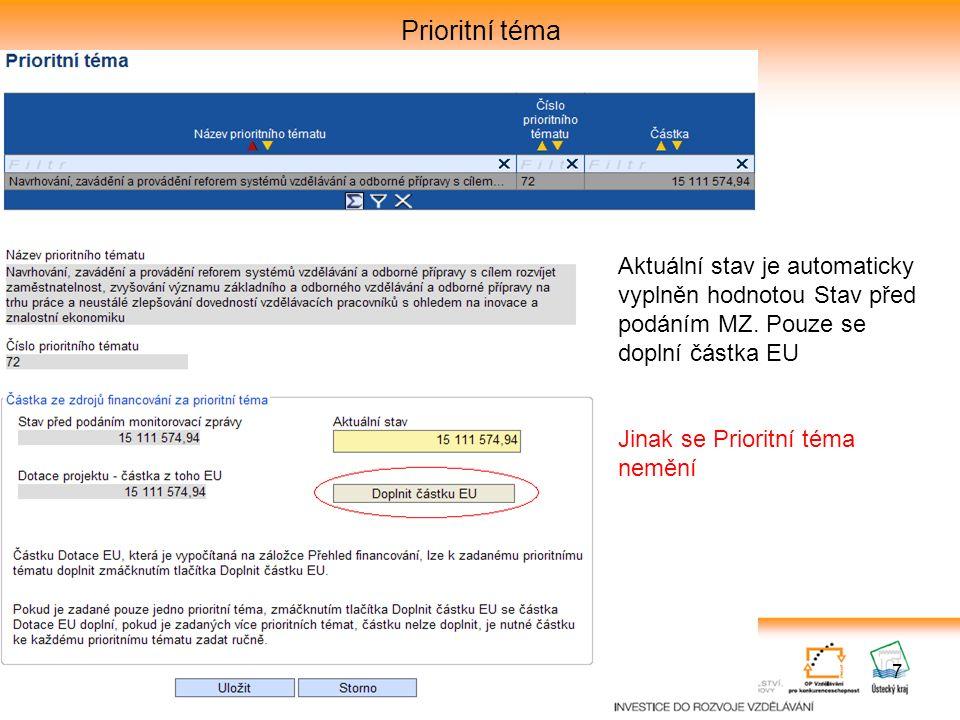 18 Kontrola monitorovací zprávy Kontrola MZ se provede i při finalizaci monitorovací zprávy Černé hlášky – pouze informativní text