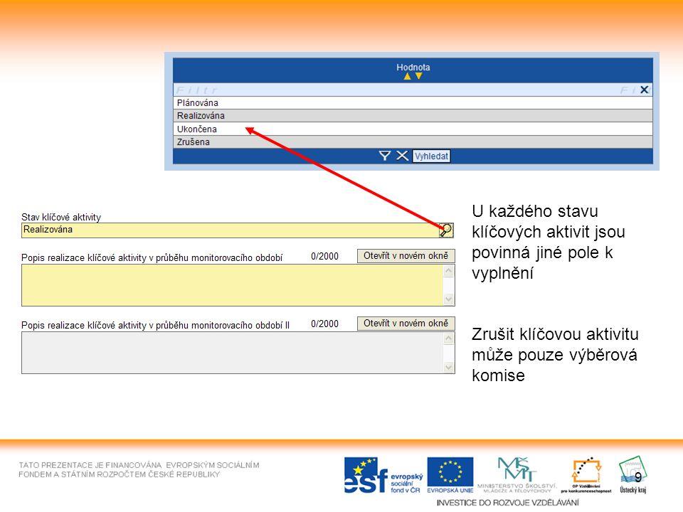 20 Tisk monitorovací zprávy Tiskem se vygeneruje pdf soubor, který se automaticky otevře v prohlížeči.